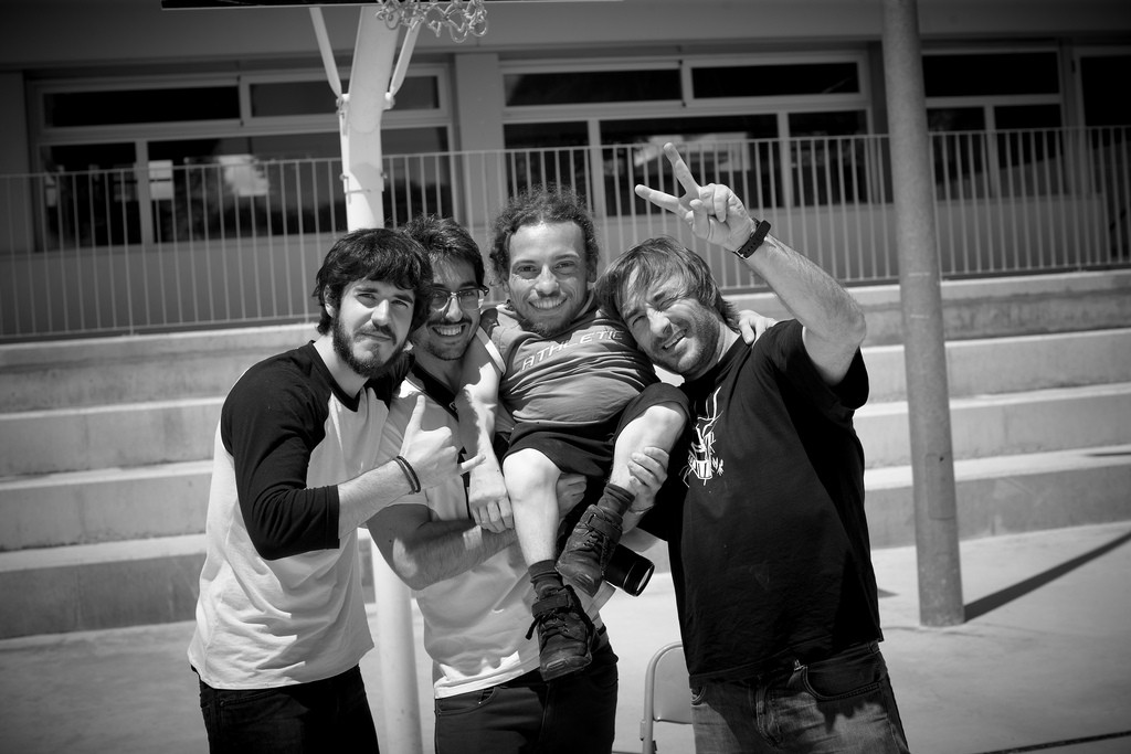 Amb els directors i el productor.