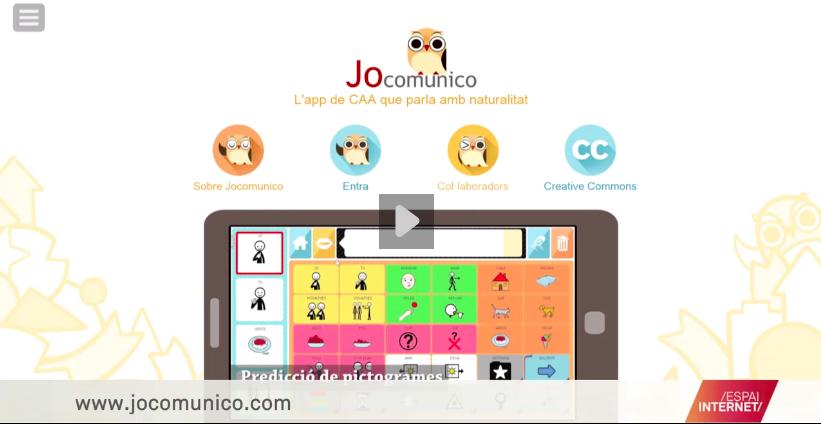 Fotograma de Jocomunico a l'Espai Internet de TV3