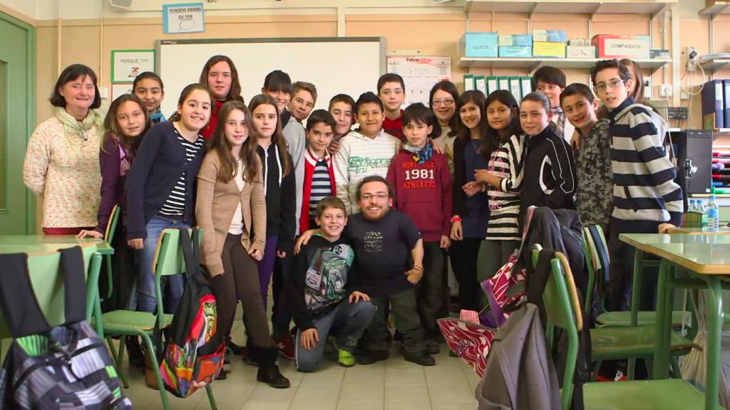 Foto de grup a l'escola
